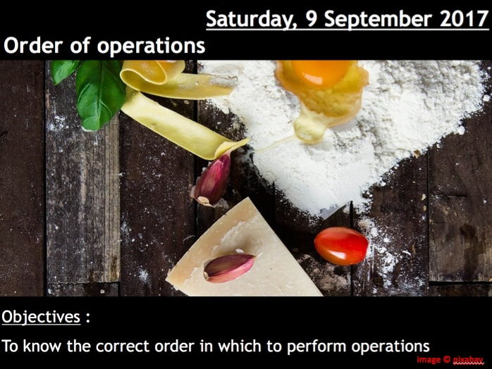 ProjectALesson: Order of Operations BIDMAS BODMAS PEDMAS