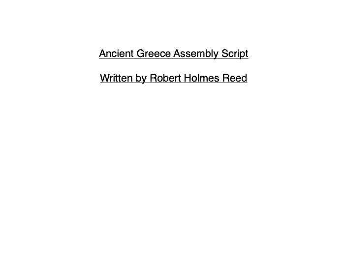 Ancient Greece KS2 Assembly Script