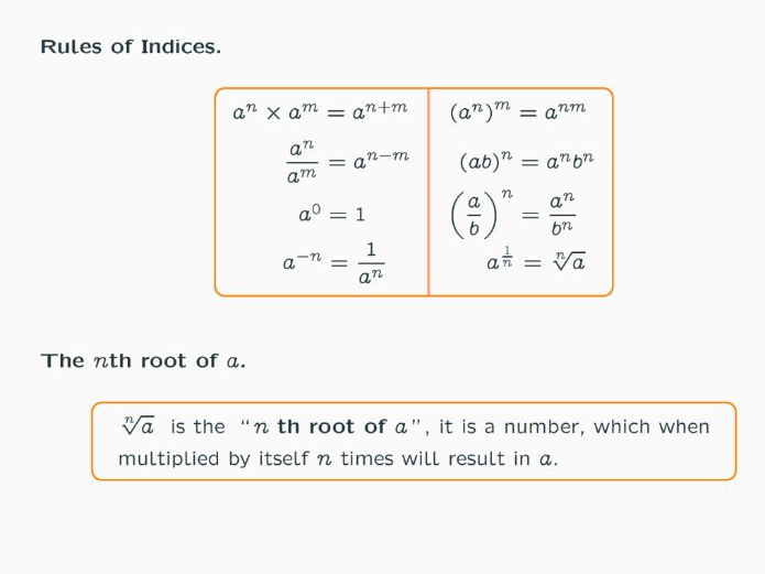 Power Indices Rules Lessons