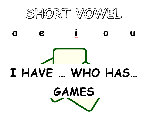 """Short Vowel """"I Have Who Has"""" Games"""