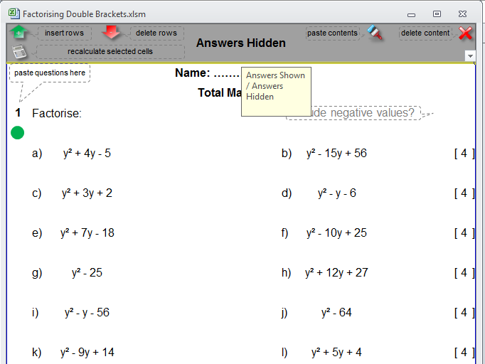 Negative Numbers Revision by dh2119 Teaching Resources TES – Double Negatives Worksheet