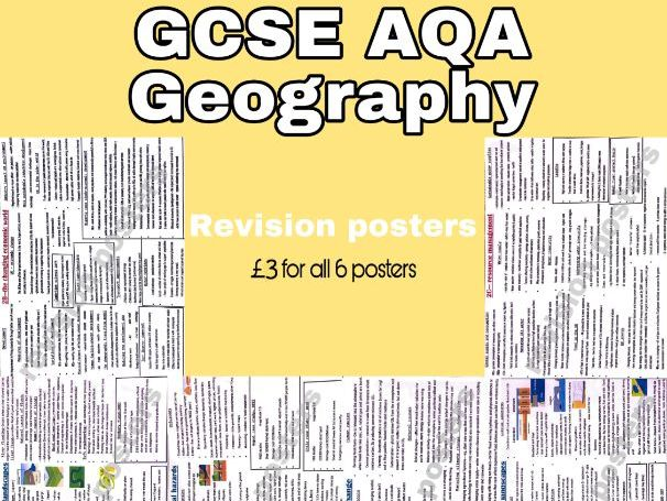 GCSE geography AQA revision posters