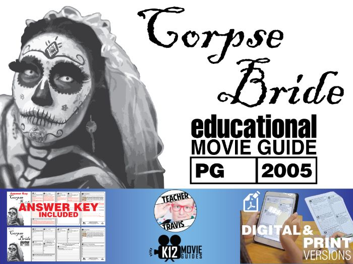 Corpse Bride Movie Guide | Questions | Worksheet (PG - 2005)