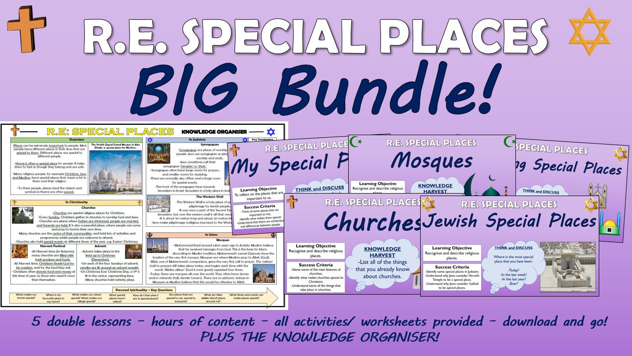 KS1 RE - Special Places Big Bundle!
