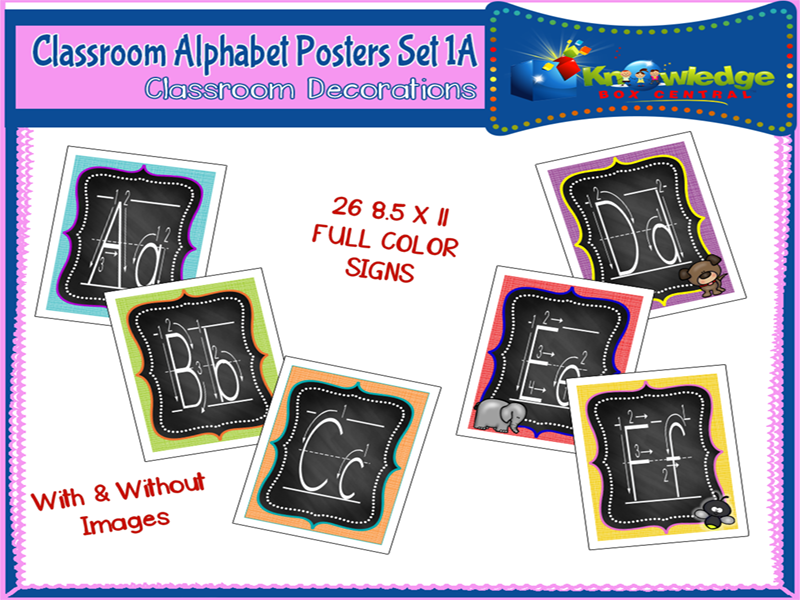Alphabet Posters Set 1A - EBOOK