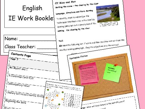 English IE/Isolation/Homework Work Booklet YEAR 11