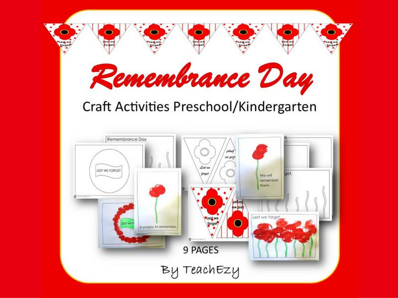 Remembrance Day Activities Preschool And Kindergarten By TeachEzy