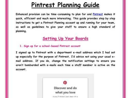 Guide to Quick and Easy Planning on Pintrest