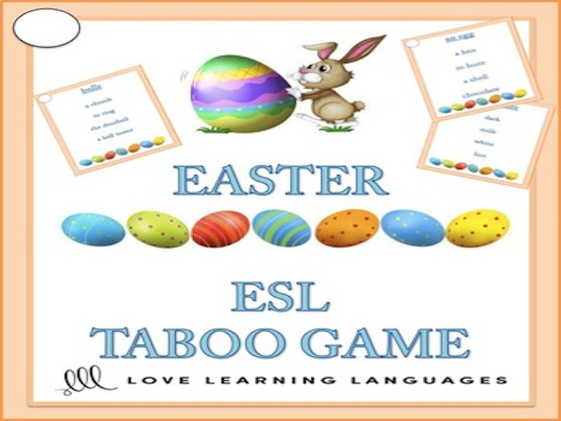 ESL EASTER Theme Taboo Game