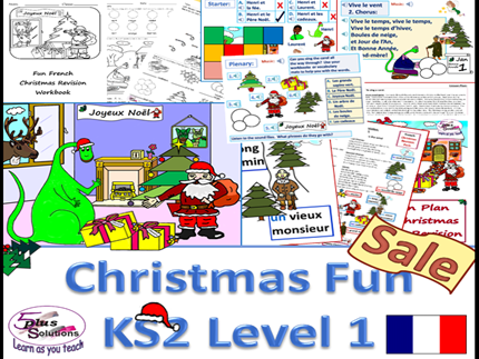Primary French FUN CHRISTMAS PACK (2nd Edition completely revised)