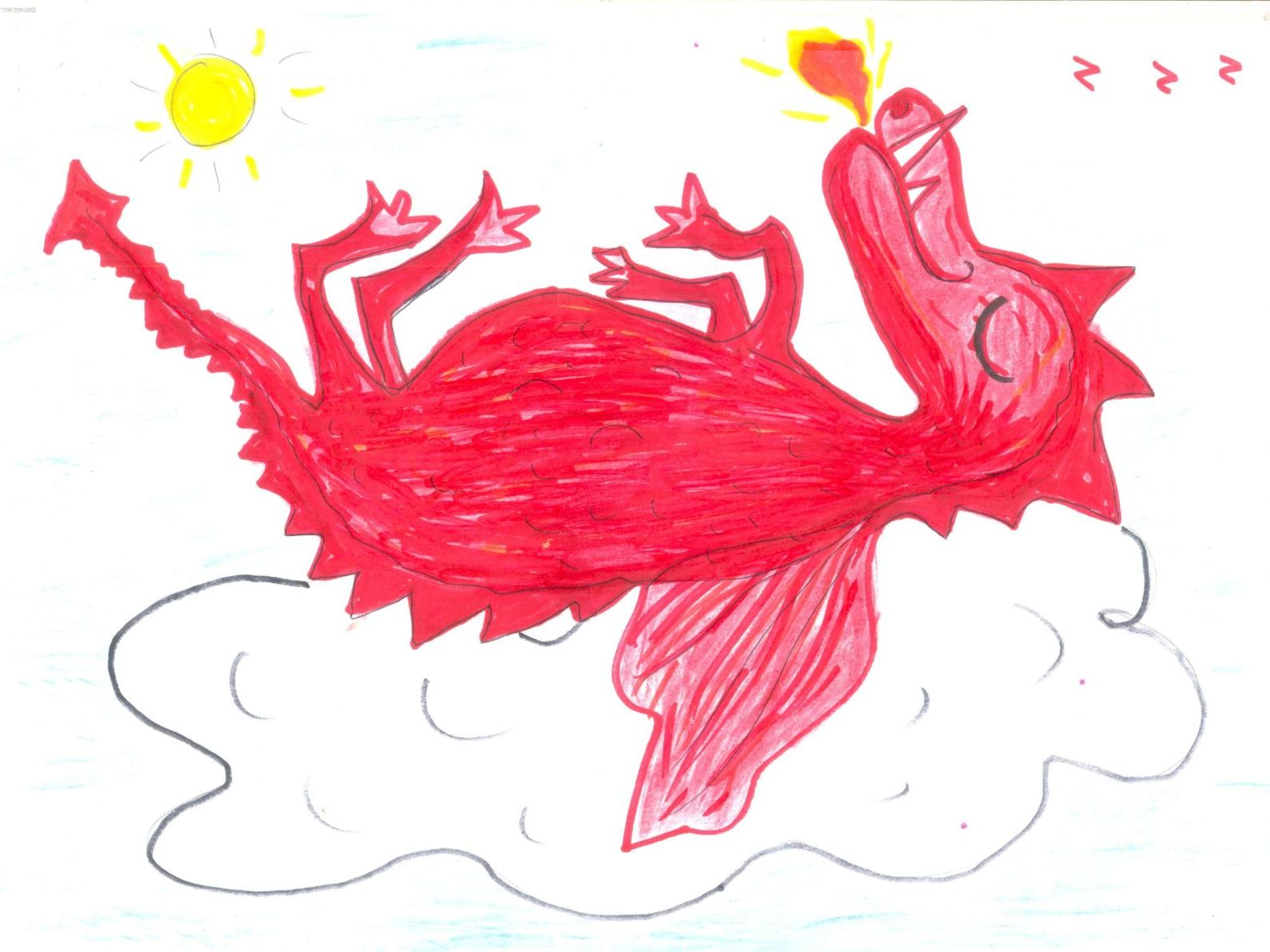 Dragons! Rhymes, Simple Writing/Colouring Sheets + 6 Crazy Pictures