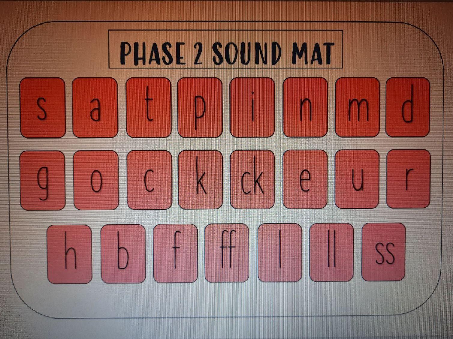 Phonics phase sound maps (phases 2-5)