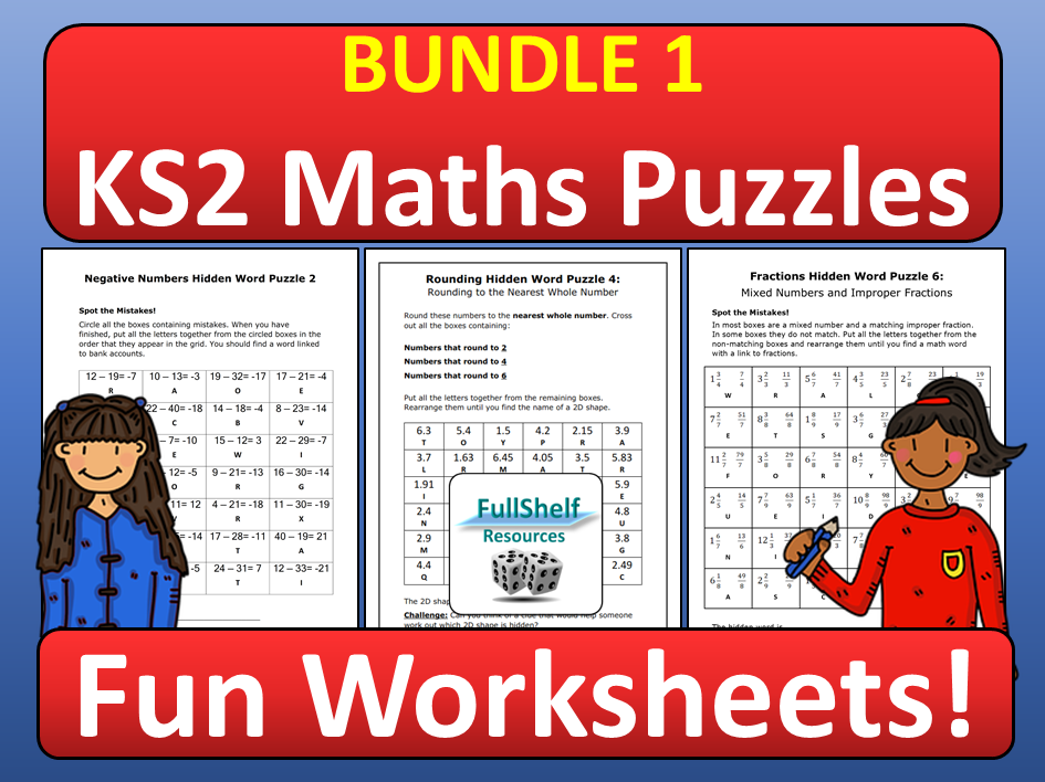 Maths Worksheets KS2 BUNDLE 1