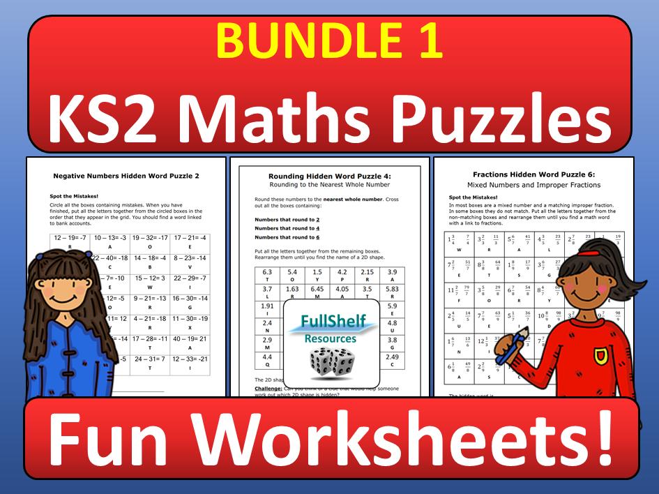 Maths Early Finisher Challenge Activities KS2 BUNDLE 1