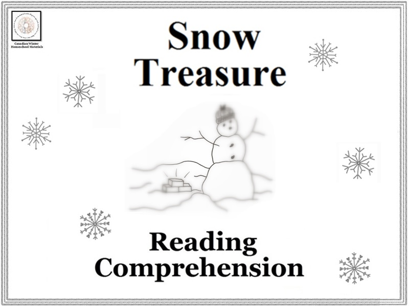 Snow Treasure Reading Comprehension