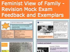 *FULL LESSON* A-Level Sociology Feminist View of Family - Revision Mock Exam Feedback and Exemplars