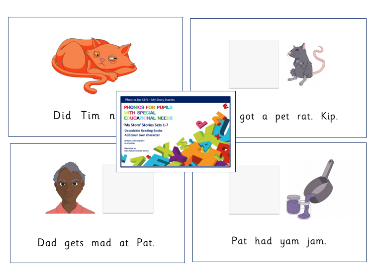 My Story stories - Personalise Decodable Readers Basic Code for pupils with autism - Phonics for SEN