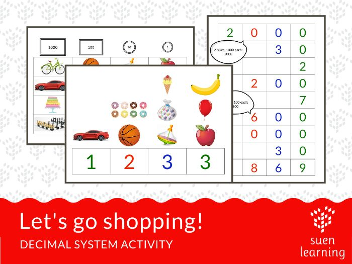 Let's go shopping! - a base 10 activity
