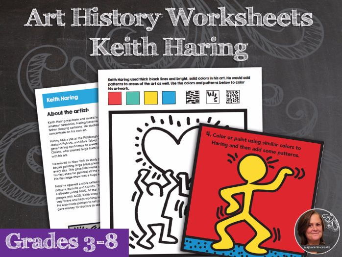 Keith Haring Art History Worksheets and Art Activities