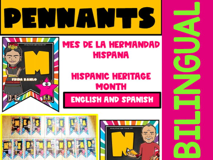 Mes de la Hermandad Hispana - Color Pennants or Posters - Bilingual