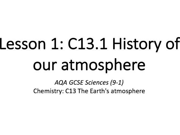 C13.1 History of our atmosphere