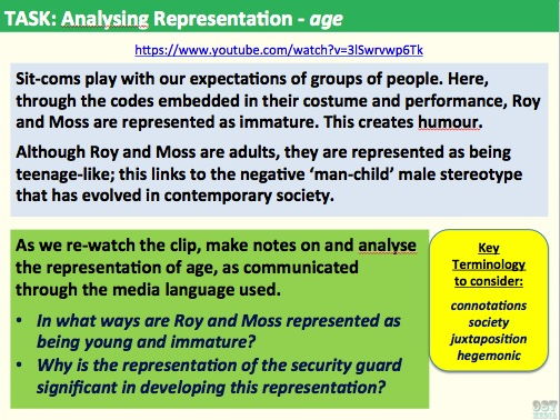 9-1 GCSE Media Studies Contexts Lesson 3 (analysing age and ethnicity)