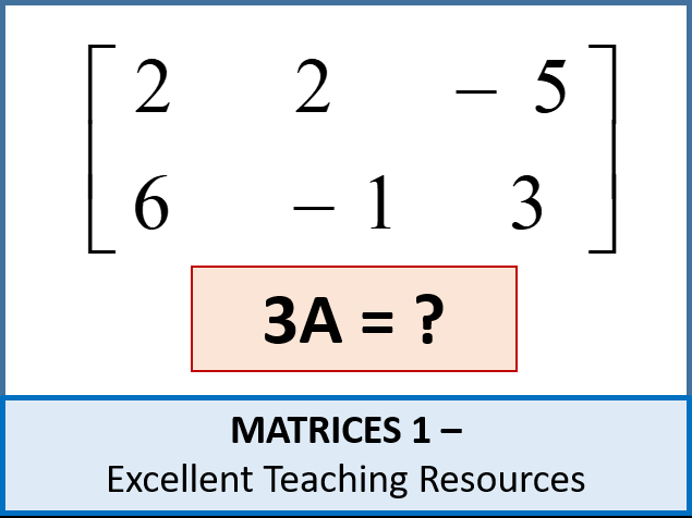 Algebra: Matrices 1 - adding and subtracting matrices plus scalars - ideal for IGCSE and A-Level