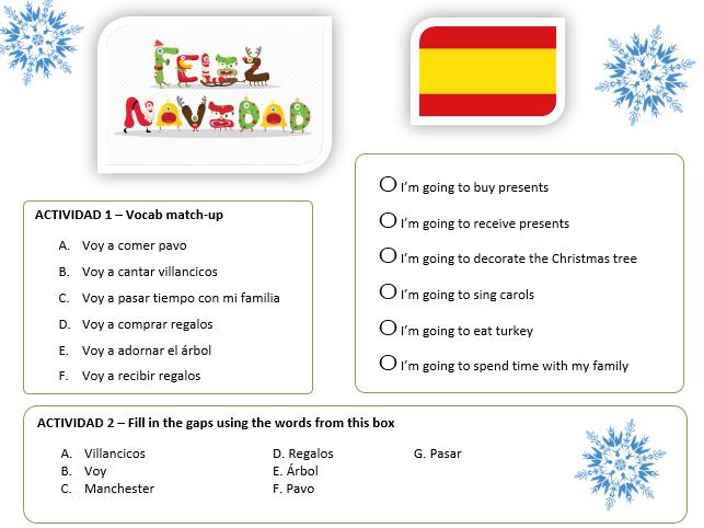 spanish ks3 feliz navidad christmas worksheet free ppt available reading by olliebu. Black Bedroom Furniture Sets. Home Design Ideas