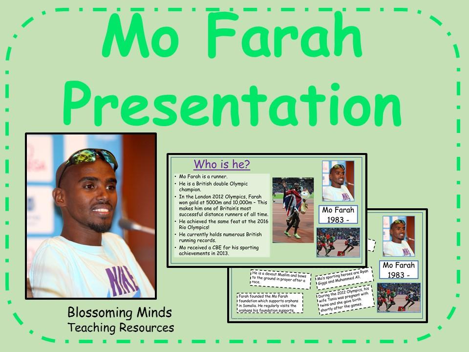 Mo Farah presentation - Black History Month