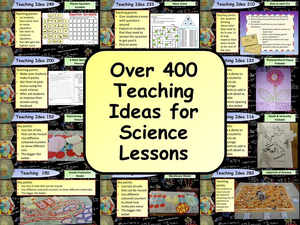 FREE! Over 400 Teaching Ideas for Science Lessons