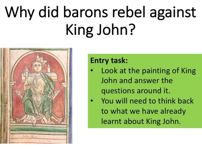 Why did barons rebel against King John?