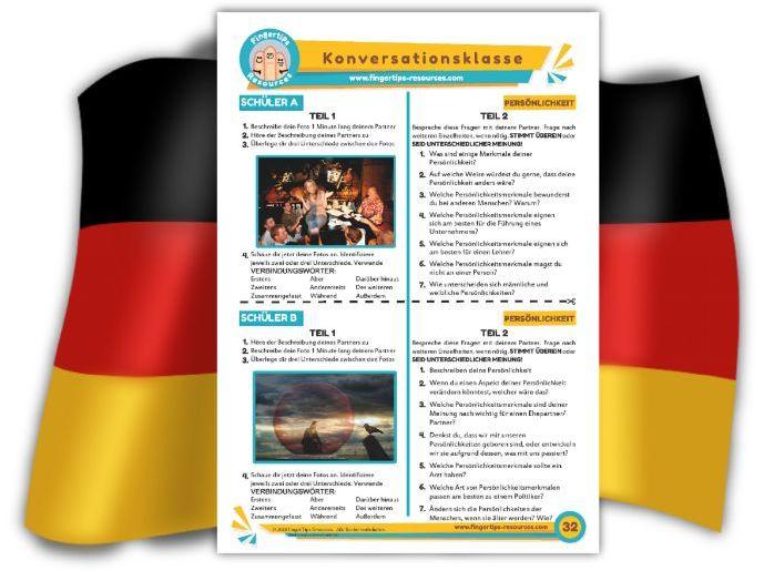 Persönlichkeit - German Speaking Activity