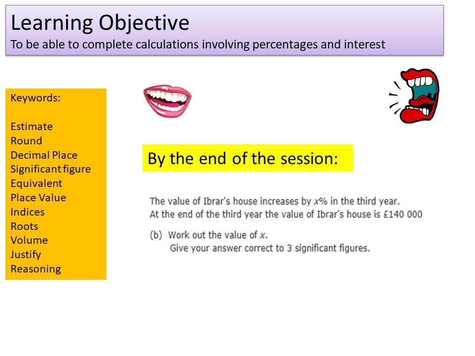 GCSE 1-9 Higher Percentages Revision