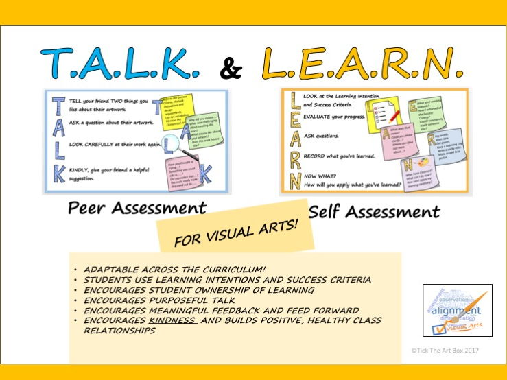 T.A.L.K and L.E.A.R.N. Peer and Self Assessment Guide for Students