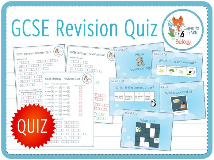 All Topics GCSE Revision Quiz - Worksheet and Powerpoint (KS4)