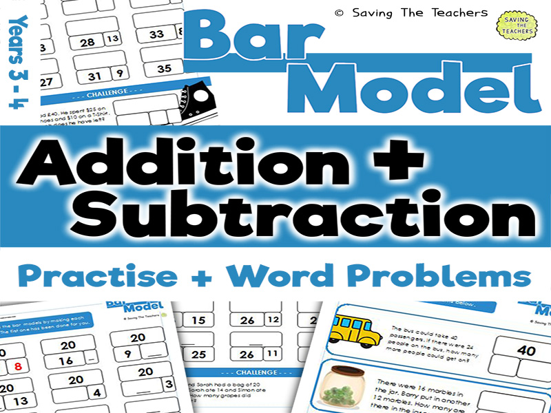 Bar Model Addition and Subtraction: Years 3 - 4