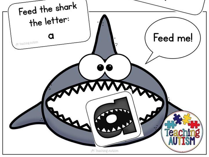 Shark Alphabet Recognition Game, Shark Week