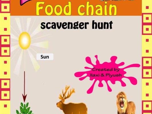 Food Chain Scavenger Hunt-An Activity