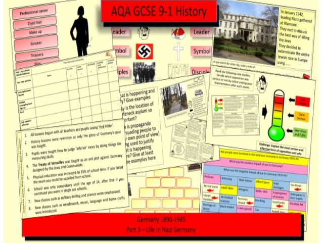 AQA GCSE 9-1 History Germany 1890-1945: Democracy and Dictatorship Bundle Part 3