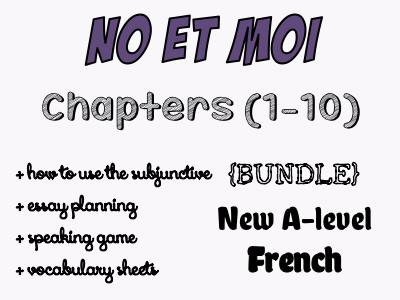 NO et MOI - Etude des chapitres 1 à 10 (worth £25)