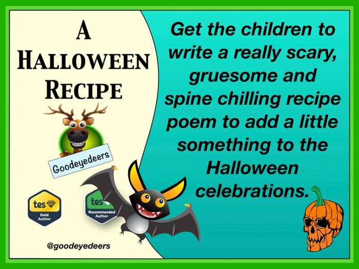 Halloween Recipe Poem - Writing Poetry In KS2