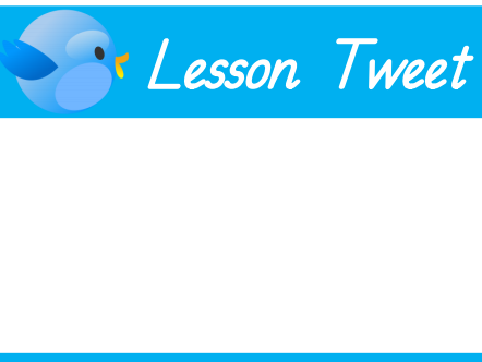 Tweet Assessment For Learning (AFL)