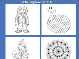 Colouring fun for EYFS