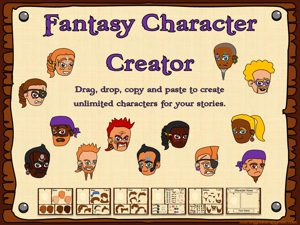 Fantasy Stories Character Creator  - Faces