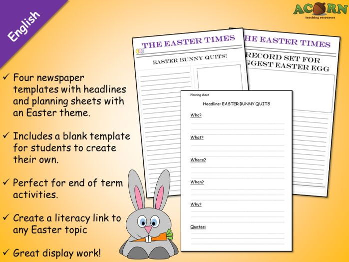 Easter news article activity