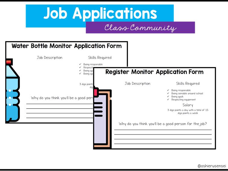 Editable Job Application Forms