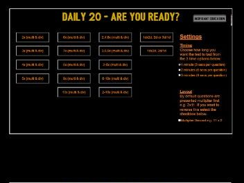 Daily 20 - Mixed Multiplication and Division Mental Maths