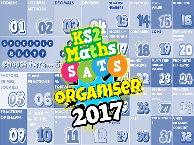 2017 KS2 SATs Revision Ultimate 3-in-1 Maths Organiser