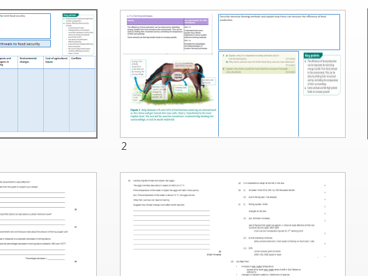 Ecosytems B7 AQA 9-1 revision pack