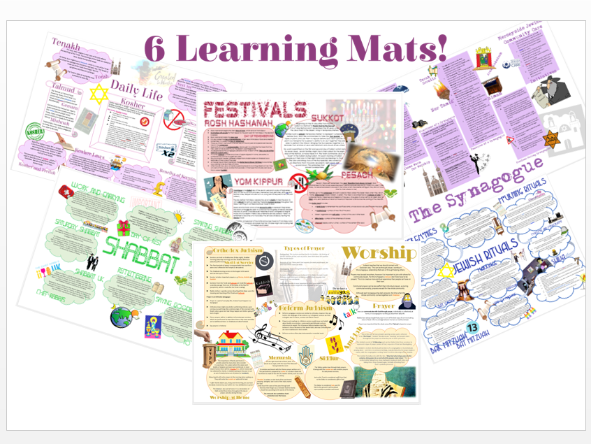 Judaism: Practices Learning Mat Bundle